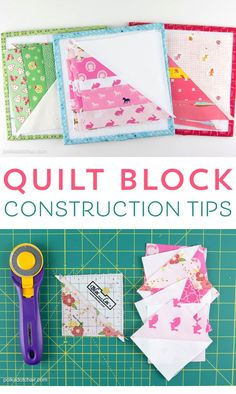 Stricken Quilt Block Construction Tips, Sewing Patterns Free, Free Sewing, Quilt Patterns, Block Patterns, Hand Sewing, Easy Sewing Projects, Sewing Hacks, Sewing Tips, Sewing Ideas