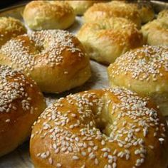 Best Ever Bagels on BigOven: These terrific bagels come out chewy and pillowy-soft.  Try these best-ever bagels!