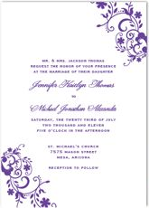 printable wedding invitation kit purple butterfly invitations, wedding cards