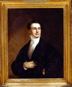 A portrait painting of Henry Wadsworth Longfellow ca. 1829 when he had just started teaching at Bowdoin College. Item # 4119 on Maine Memory Network