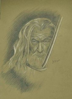 Portrait study. #Gandalfthegrey for all #LOTR and #Hobbit fans