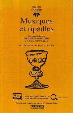 Février 1993  Musiques et ripailles  Les Rhapsodes