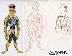 Stephen Silver - Character Design Page