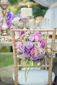 Love love love purple and this soft pink arrangement