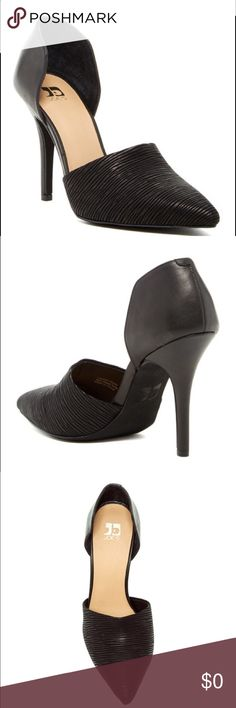 """Joe's Jeans Calf Hair Pump A d'Orsay-inspired silhouette lends modern sophistication to a closed toe Pump set in a svelte wrapped heel. Pointed toe. Genuine calf hair upper . Textured detail. Stiletto heel. Approx 4"""" heel. Leather/calf hair. Brand new in box, size 8.5 Joe's Jeans Shoes Heels"""