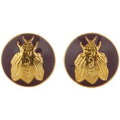 Skultuna The Napoleon Bee Cufflinks - Purple (€70) ❤ liked on Polyvore featuring home, home decor, purple, purple home decor, purple home accessories and inspirational home decor