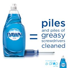 Got greasy, oily tools that need cleaning? See more alternative uses for Dawn Dish Soap. Car Cleaning, Diy Cleaning Products, Cleaning Hacks, Cleaning Supplies, Dawn Dishwashing Liquid, Dawn Dish Soap, Diy Cleaners, Family Game Night, Things To Know