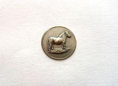 1950s Paarden / Paardensport / paard Medaille Inleg. door RVHills