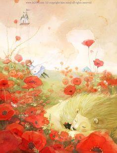 Lot 5 Fairy Tale Korea Style illustration Art painting Postcard The Wizard of OZ Children's Book Illustration, Watercolor Illustration, Food Illustrations, Storyboard, Kim Min Ji, Photo Images, Wizard Of Oz, Illustrators, Book Art