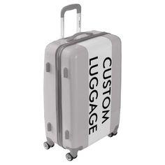 Custom Personalized MEDIUM Suitcase Luggage SILVER - diy accessories custom personalize cyo