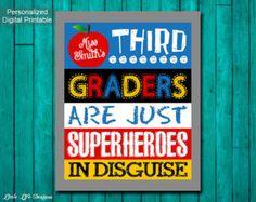 Classroom Decor. Gift for Teacher. Classroom Sign.
