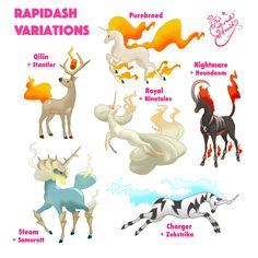 Rapidash Variations