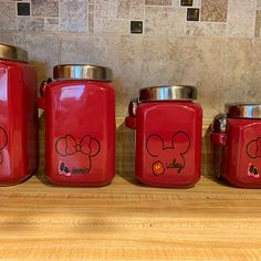 Barbara Letendre added a photo of their purchase Disney Kitchen Decor, Cow Kitchen Decor, Disney Home Decor, Red Kitchen, Mickey Mouse House, Mickey Mouse Kitchen, Mickey Mouse And Friends, Mickey Minnie Mouse, Cozinha Do Mickey Mouse