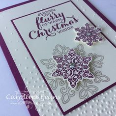 Carolina Evans - Stampin' Up! Demonstrator, Melbourne Australia: Flurry of Wishes - Two Ways