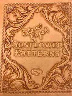 Sunflower patterns Tooled Leather Purse, Leather Art, Custom Leather, Leather Design, Leather Tooling, Leather Purses, Leather Crafting, Leather Craft Tools, Leather Projects