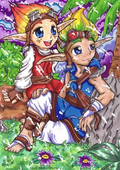 Finally got around to doing another pretty, colourful, Sandover-based Jak and Daxter piece. Looks Like Rain Jak & Daxter, Cartoon Video Games, Banana Bus Squad, Interactive Media, Game Concept Art, Best Games, Game Art, Chibi, Spiderman