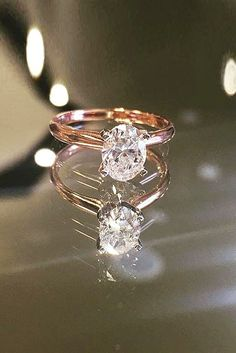 30 Rose Gold Wedding Rings You'll Fall In Love ❤️ See more: http://www.weddingforward.com/rose-gold-wedding-rings/ #wedding