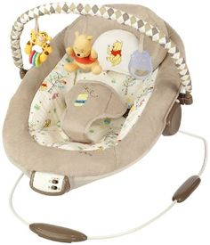 Winnie the Pooh Bouncer - super soft cotton, simple. just what baby needs to watch you from their special chair! Winnie The Pooh Themes, Winnie The Pooh Nursery, Winne The Pooh, Best Baby Bouncer, Disney Baby Nurseries, Baby Gallery, Baby Necessities, Baby Swings, Baby Supplies