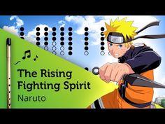 The Raising Fighting Spirit (Naruto) on Tin Whistle D + tabs tutorial - YouTube