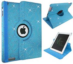 Xtra-Funky Exclusive iPad 2 / 3 / 4 Crystal Diamante PU Leather 360 Degree Rotating Smart Case with Auto Wake / Sleep Function + Screen Protector and Soft Tipped Stylus - BLUE Xtra-Funky http://www.amazon.ca/dp/B00FRL2XFM/ref=cm_sw_r_pi_dp_yhg7vb0FK4HEG