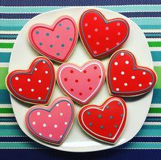 One Dozen Heart Sugar Cookies