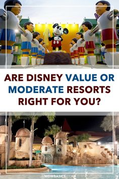 Are Disney Value or Moderate Resorts Right For You? // WDW Basics // What differentiates Disney World hotels in moderate and value categories? Here we compare the features and benefits of Disney value vs moderate resorts to help you decide which category of Disney World hotels is right for your family's trip. // PIN THIS and TAP TO READ #disneyworldhotels #disneyworldresorts Disney Value Resorts, Disney Resort Hotels, Disney World Hotels, Disney World Food, Disney World Planning, Walt Disney World Vacations, Disney World Secrets, Disney World Tips And Tricks, Best Disney Restaurants