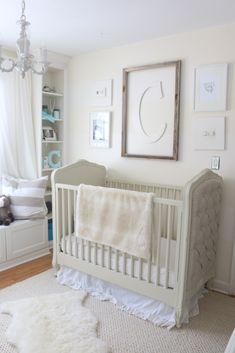 Cream and White Nursery - if you want to keep the color scheme this light, be sure to add varying textures and shades for visual appeal!