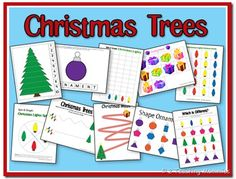 Educational Freebie: Christmas Tree Preschool Printable Pack
