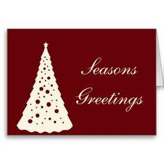 Simple and Stylish Christmas Greetings Greeting Card