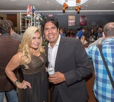 Tia Barr, Gordon Vasquez attending the 2015 American Film Market (AFM) - Kitesurfing TV Launch Party with Breaking Glass Pictures held at the Lounge at 1733 Ocean Avenue in Santa Monica, CA, USA on 11/08/2015 | GVA-000409