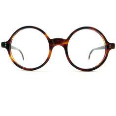 Vintage Round Amber Spectacles Glasses Eyeglasses Sunglasses Frame