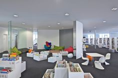 Image 3 of 31 from gallery of Toy and Media Library / Philippe Fichet Architectes. Photograph by Philippe Ruault Outdoor Activity Centres, Activity Centers, Conservation, Multimedia, Library Pictures, Best Architects, Ground Floor Plan, Floor Plans, Layout
