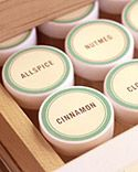 Organized Spices - free printable labels from Martha Stewart
