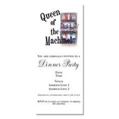 Queen of the Machine Invitations on CafePress.com