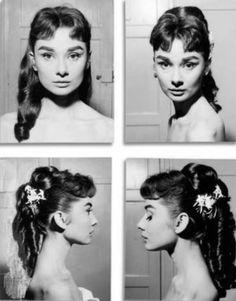 Rare Audrey Hepburn — Audrey Hepburn hair and makeup test shots for...