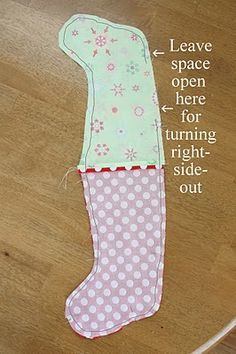 simplest way to sew a lined stocking