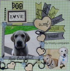 Image result for Dog Memorial Scrapbook Pages