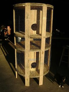 Chicken Coop from Old Cable Spools
