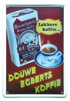 DE koffie 20x30 | Blikken borden 20x30 | www.19toen.nl
