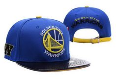 NBA Golden State Warriors Blue/Black Strapback Hats Brim Shine Leather|only US$8.90 - follow me to pick up couopons.
