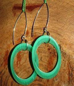 Elliptic....Cool Green Earrings.....$28
