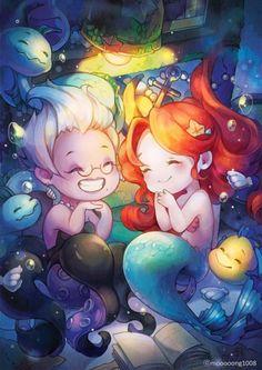 Ariel La Petite Sirène dessin fanart mooooong1008