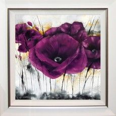 Pavot violet III - Isabelle Zacher-Finet - IG 3995 - Please respect our (C)opyright Purple Painting, China Painting, Dot Painting, Painting Patterns, Art Floral, Framed Prints, Art Prints, Framed Art, Art Pictures