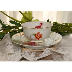 Hammersley Bone China bowl and plate,Red Rose pattern ($10) ❤ liked on Polyvore featuring home, kitchen & dining and bone china