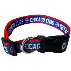 Chicago Cubs Dog Collar - Pets First Officially licensed nylon web adjustable collar with woven MLB logo and word mark. Cool Dog Collars, Cat Collars, Thing 1, Arizona Diamondbacks, Mlb Teams, Collar And Leash, New York Mets, Dog Leash, Chicago Cubs