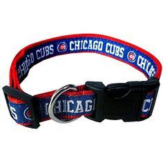 Pets First MLB Chicago Cubs Pet Collar, Medium Pets First http://a.co/ctHYIIV