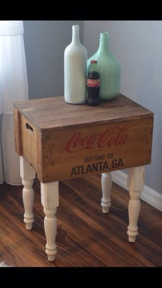 coca cola crate end table