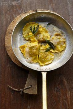 Casonsei di Brescia (ravioli in sage butter, Italy)