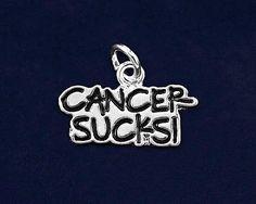 2 Cancer Sucks Charms for Cancer Awareness