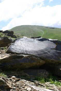 Stone inscription. Place: Near the city of Mahabad in east Kurdistan (The Iranian part of Kurdistan). 12000 years ago. photo by: Sherko Jahani